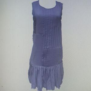 Hem & Thread Taupe Pleated Dress Swing New